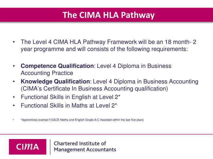 The CIMA HLA Pathway