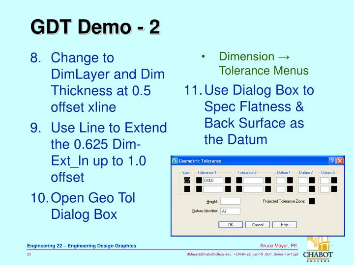 Change to DimLayer and Dim Thickness at 0.5 offset xline
