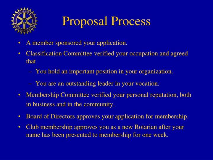 Proposal Process