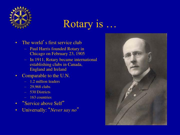 Rotary is …