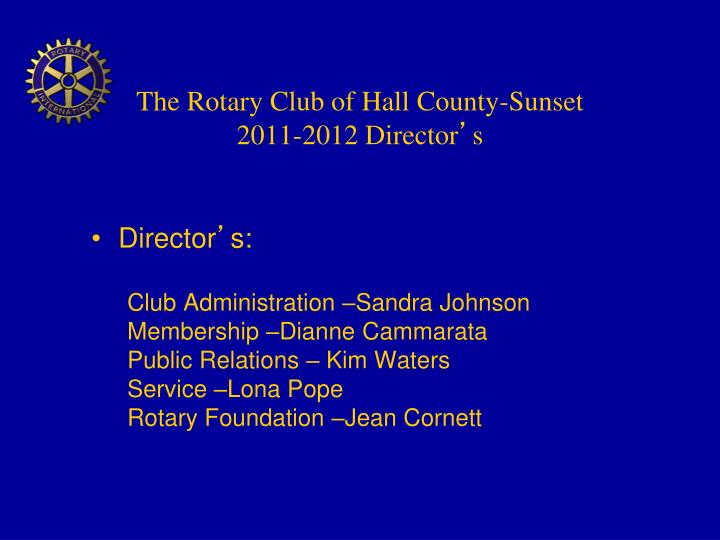 The Rotary Club of Hall County-Sunset