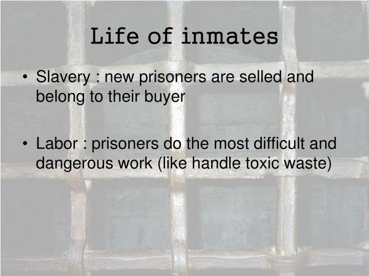 Life of inmates