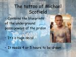 the tattoo of michael scofield