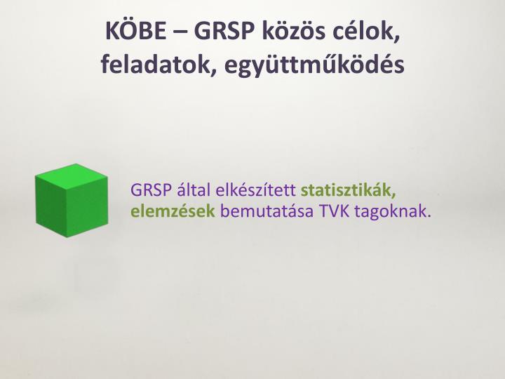 KÖBE – GRSP közös célok,