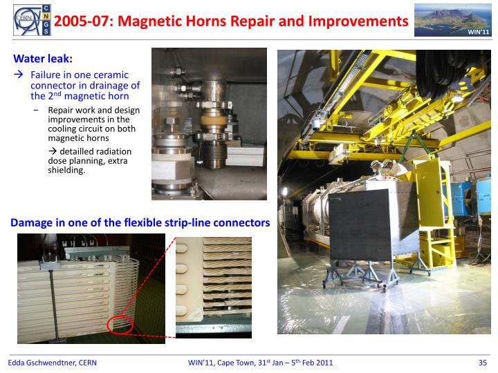 2005-07: Magnetic Horns Repair and Improvements