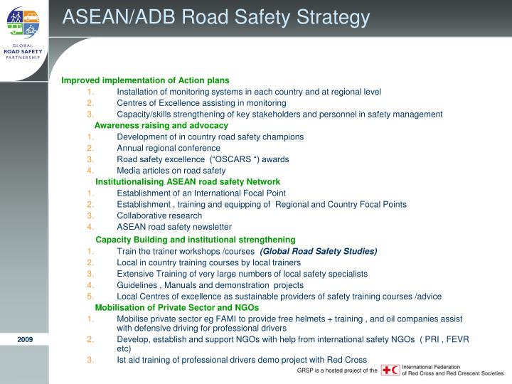 ASEAN/ADB Road Safety Strategy
