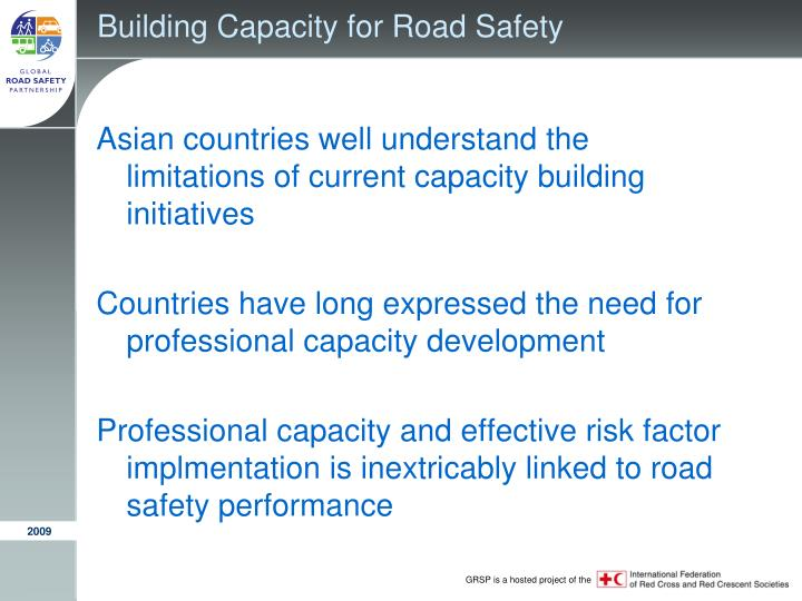 Building capacity for road safety