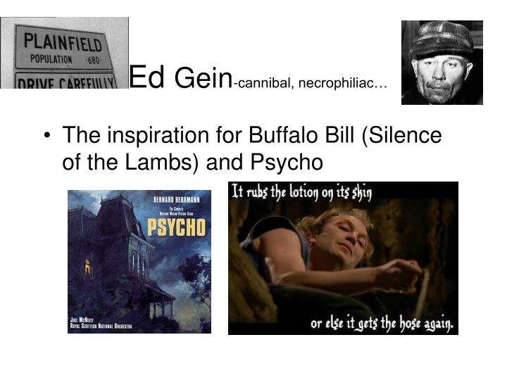 Ed gein cannibal necrophiliac