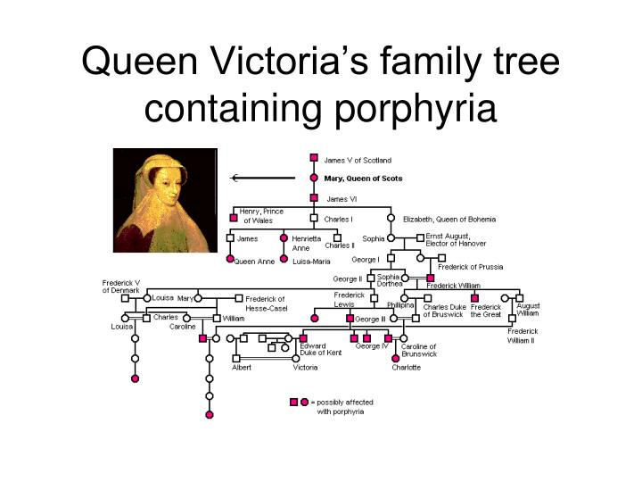 Queen Victoria's family tree containing porphyria