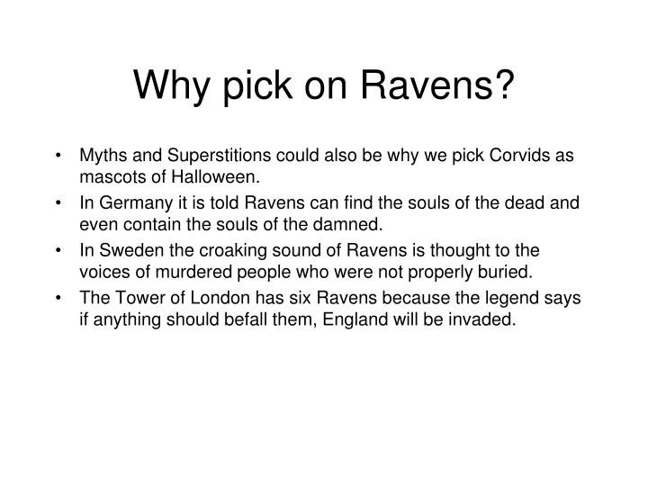Why pick on Ravens?