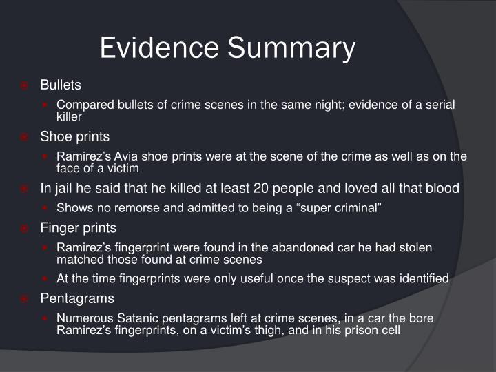 Evidence Summary