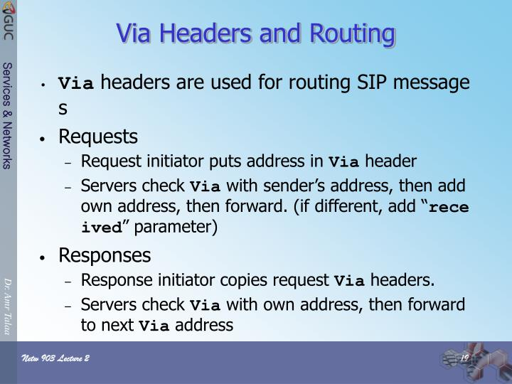 Via Headers and Routing