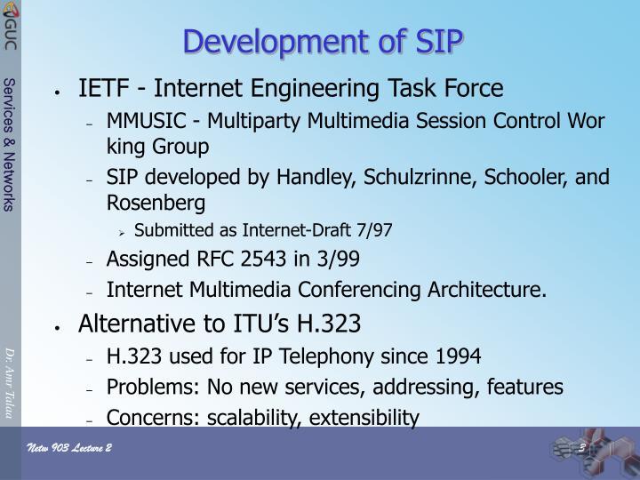 Development of SIP