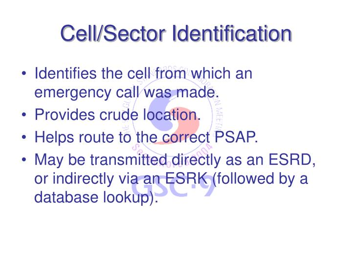 Cell/Sector Identification