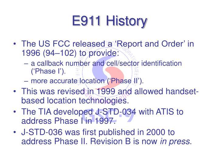 E911 History