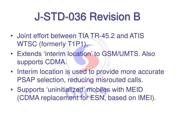 J-STD-036 Revision B