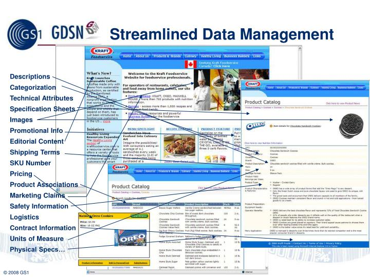 Streamlined Data Management