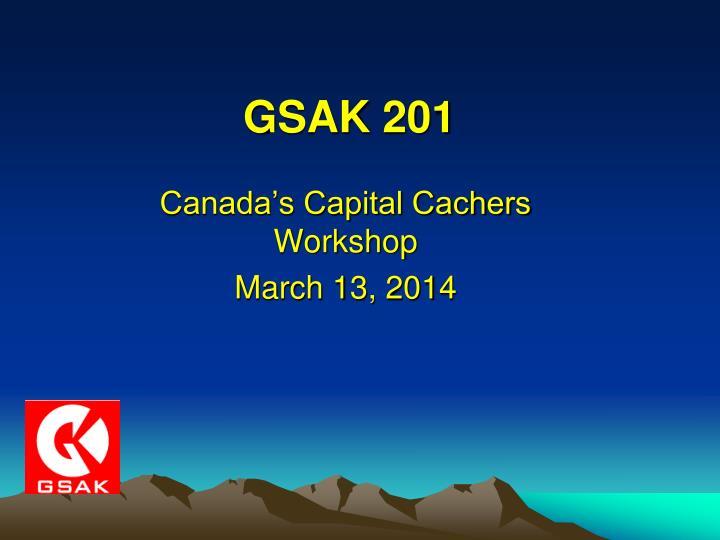 GSAK 201