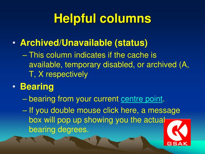 Helpful columns