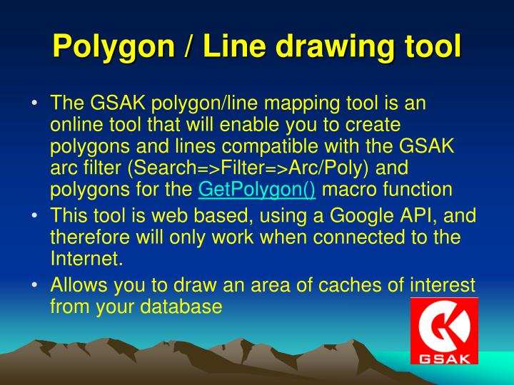 Polygon / Line drawing tool