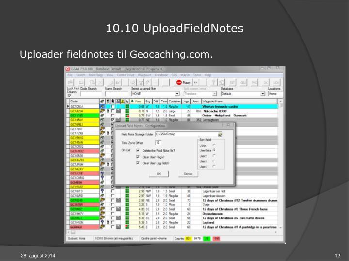 10.10 UploadFieldNotes