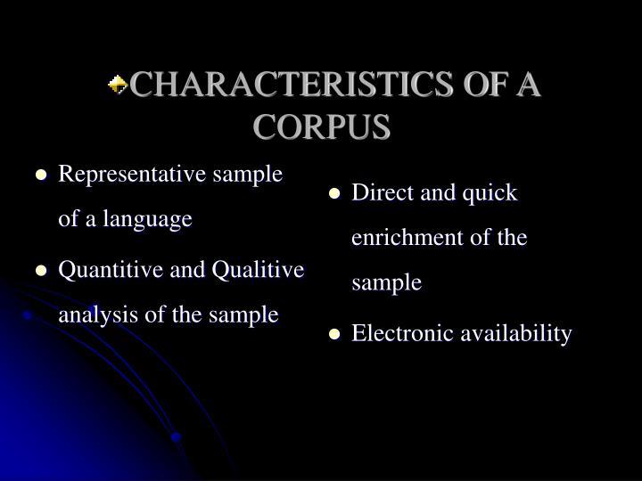 Representative sample of a language