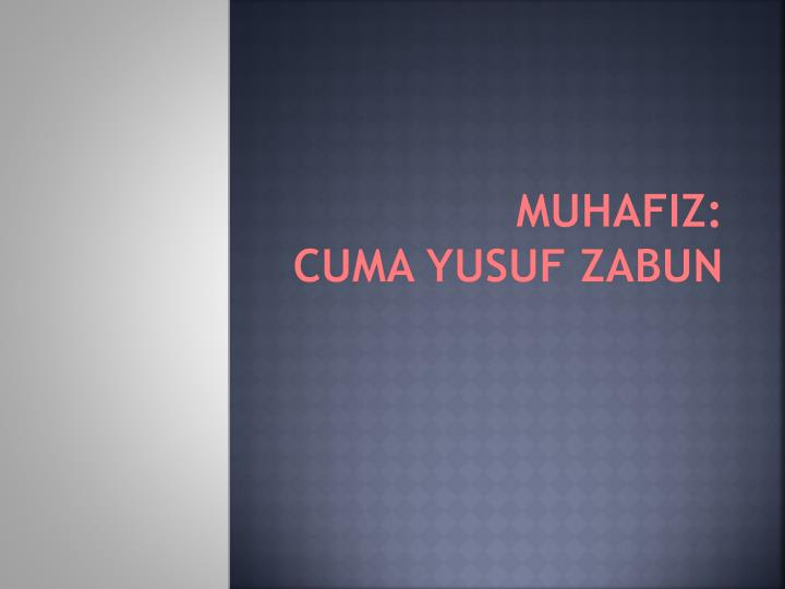 MUHAFIZ: