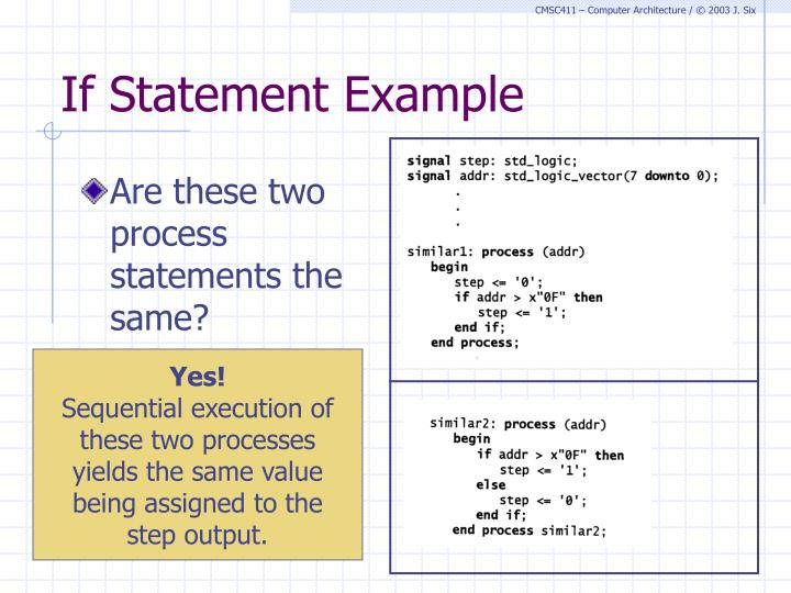 If Statement Example