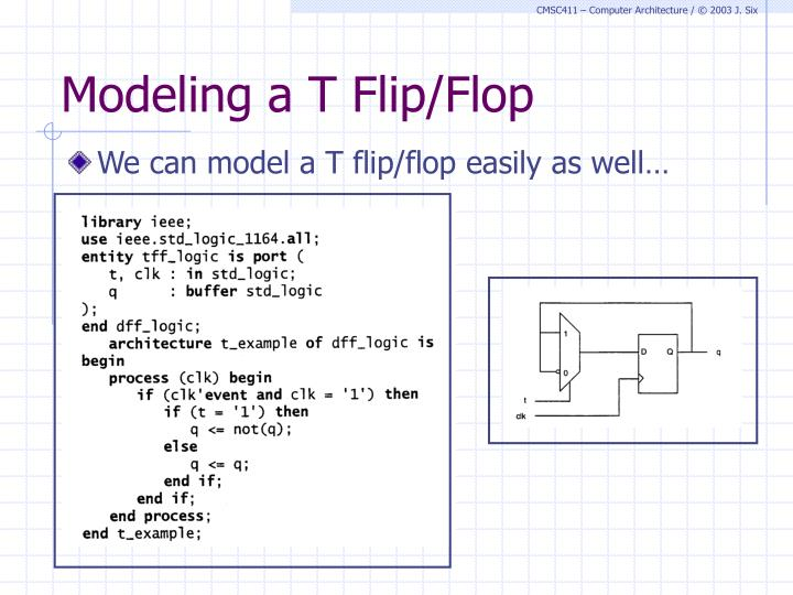 Modeling a T Flip/Flop