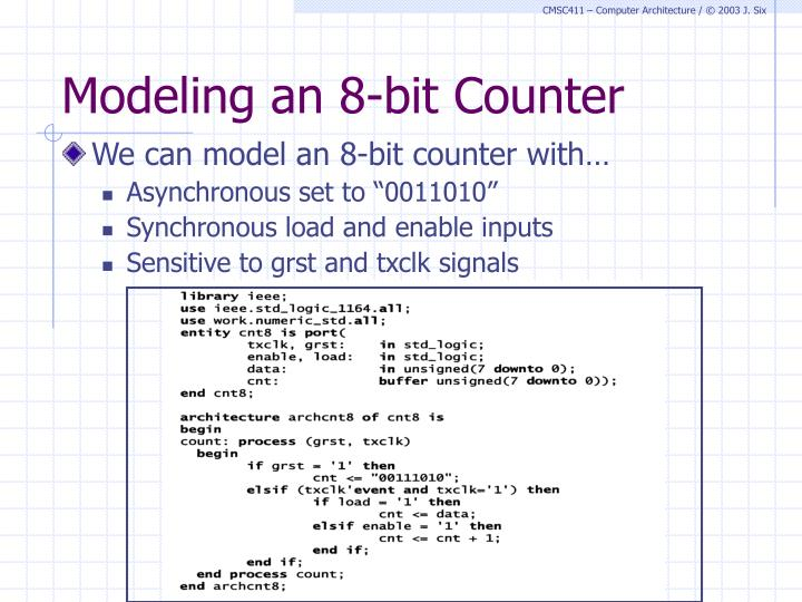Modeling an 8-bit Counter