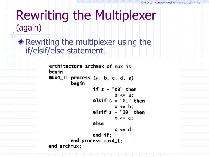Rewriting the Multiplexer