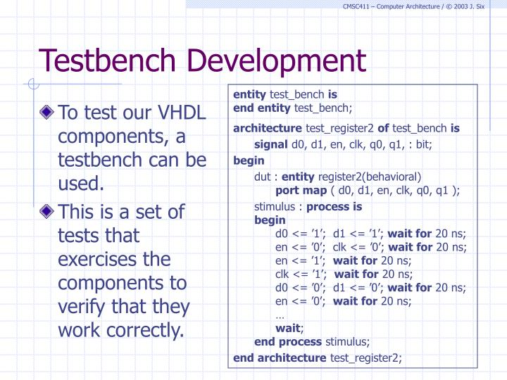Testbench Development
