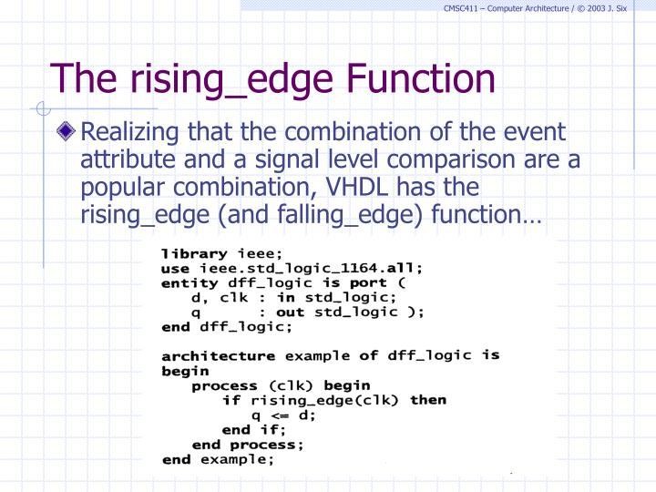 The rising_edge Function