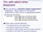 the with select when statement