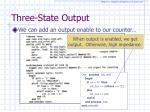 three state output