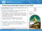 enhancing sustainable tourism in lao pdr