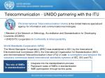 telecommunication unido partnering with the itu