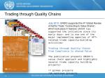 trading through quality chains