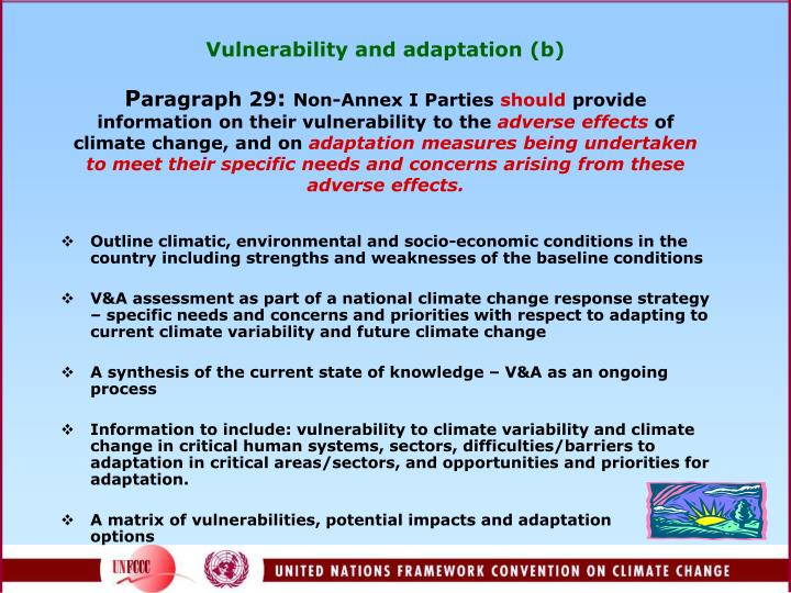 Vulnerability and adaptation (b)
