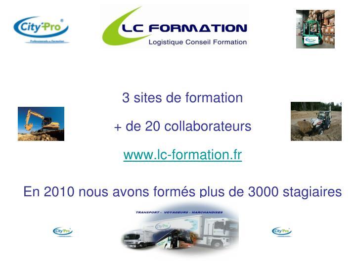 3 sites de formation