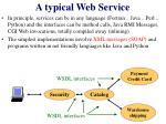 a typical web service