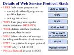 details of web service protocol stack