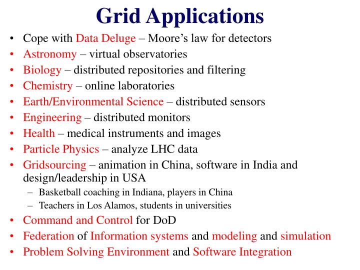 Grid Applications