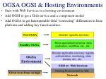 ogsa ogsi hosting environments