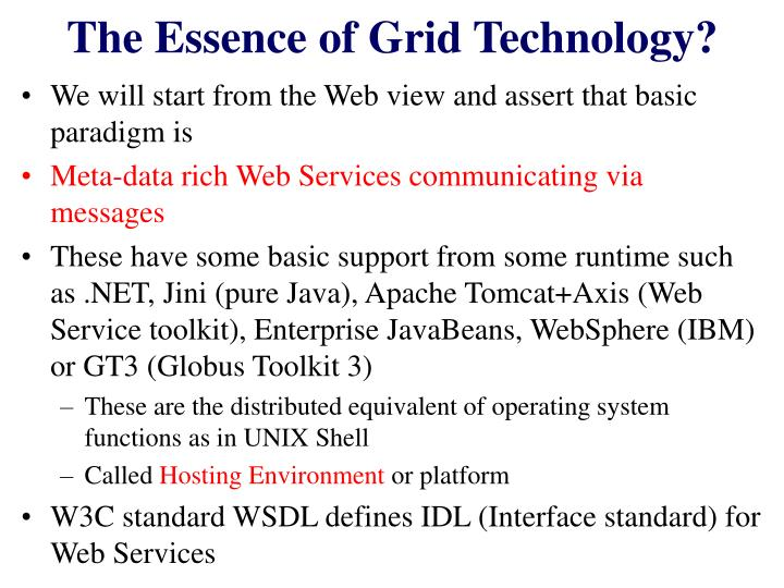The Essence of Grid Technology?