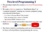 two level programming i