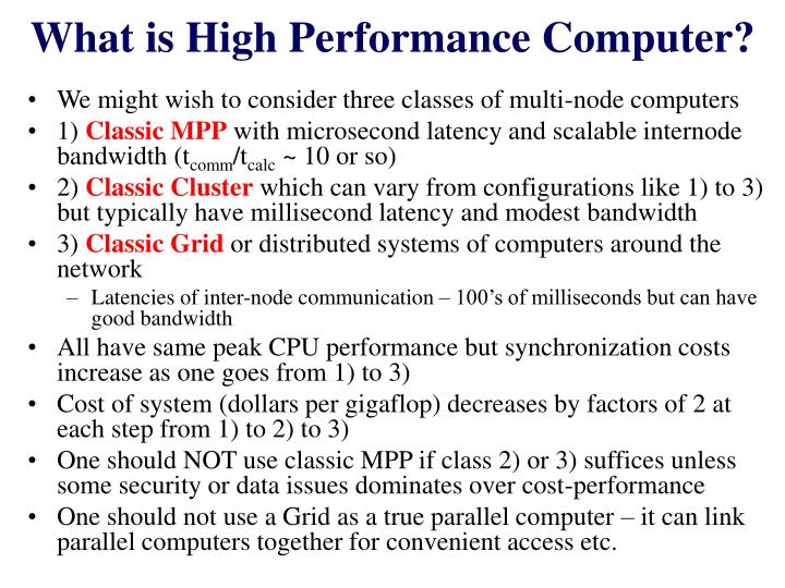 What is high performance computer