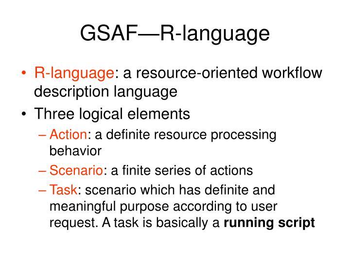 GSAF—R-language