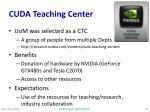 cuda teaching center
