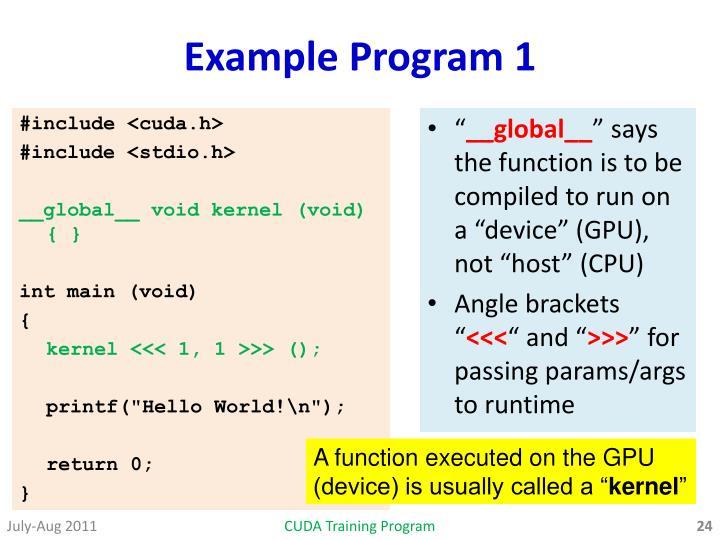 Example Program 1
